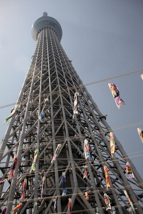 スカイツリー, タワー, 東京, 日本, ランドマーク, スカイライン