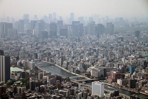 ビュー, 東京, 日本, タワー, スカイツリー, ランドマーク, 都市, 東京