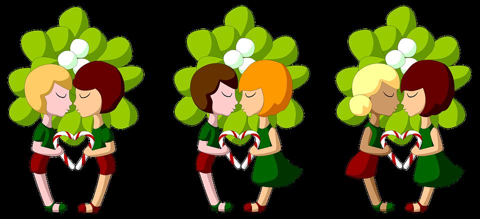 Mistel Weihnachten Kuss · Kostenloses Bild auf Pixabay