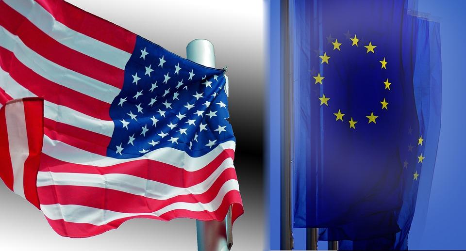 Usa, Europe Flag
