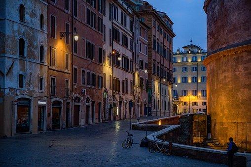 Straße, Pantheon, Rom, Italien