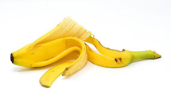 Banana Peel, Fruit, Healthy, Yellow