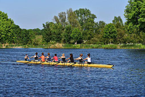 Boat, Shell, Rowing, Rowers, Sport