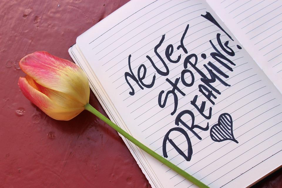 Dreams, Motivation, Notes, Notebook, Writing, Quote