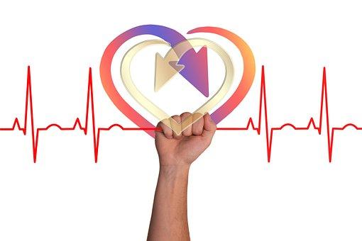 心, 曲線, ライブ, スレッド, Seidener スレッド, 健康, パルス