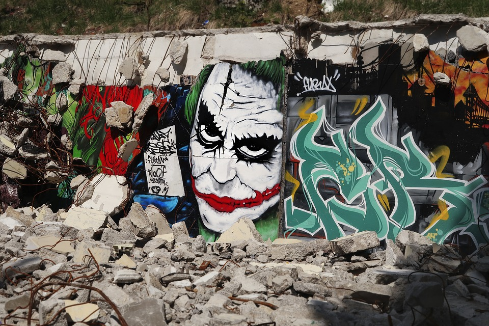 Graffiti Joker Gravat Kostenloses Foto Auf Pixabay