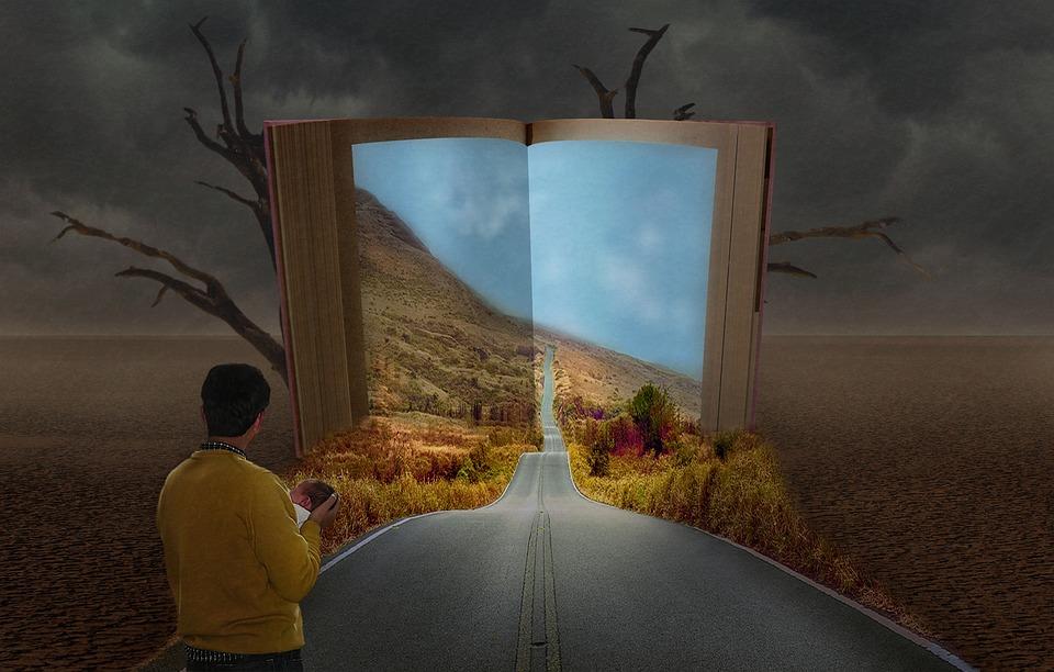 Boek, Kinderen, Vader, Leven, Fantasie, Straat, Licht