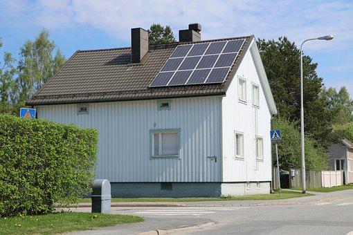 家, 建物, 太陽光パネル, アーキテクチャ, エネルギー, 木造住宅