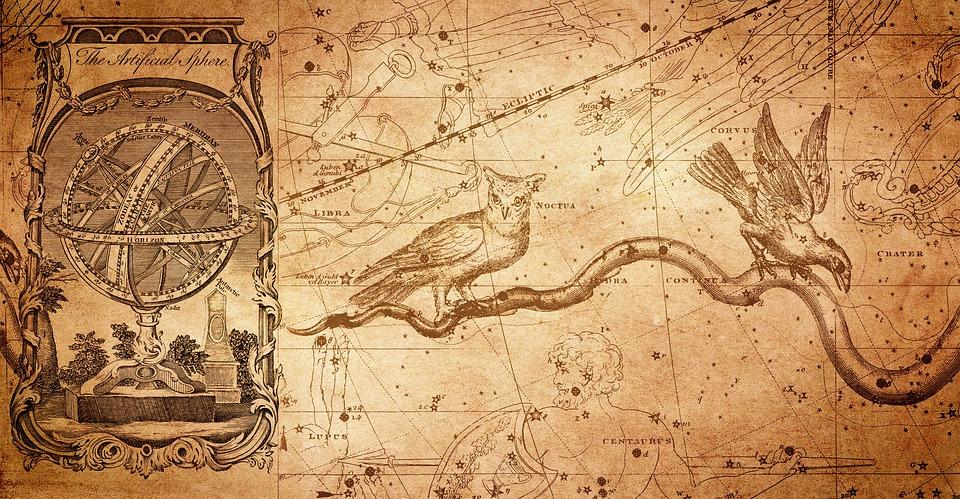 Armillar Ball, Constellation, Constellation Map, Owl