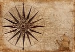 compass, map, nautical