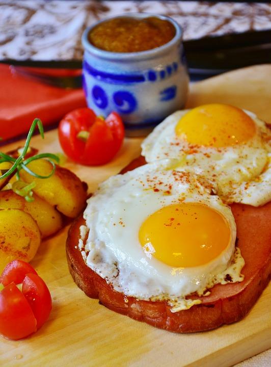 油煎, 鸡蛋, 肝奶酪, 午餐, 吃, 国产, 进餐, 餐, 食品, 美味, 炒鸡蛋, 蛋黄, 饥饿, 饿了
