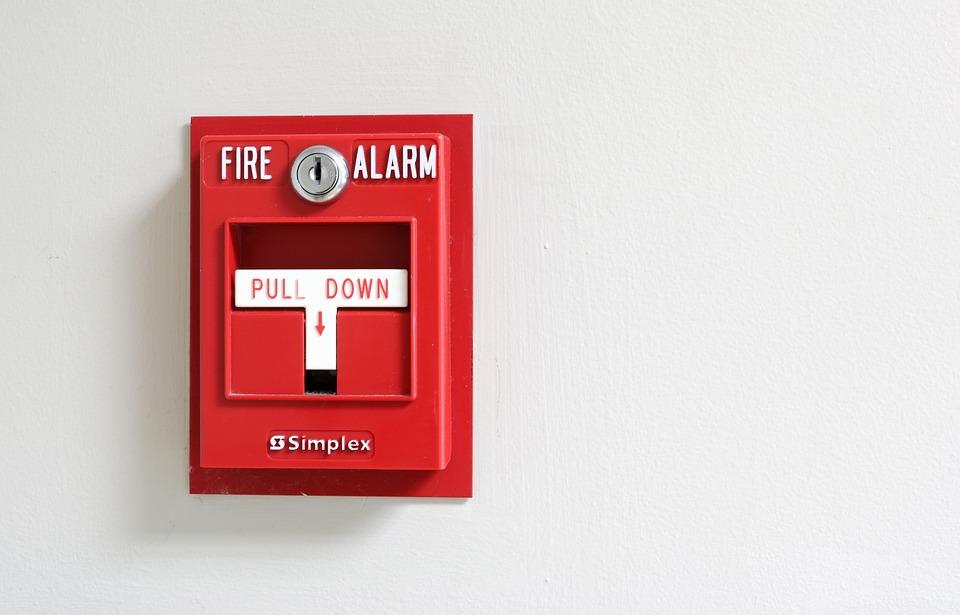 Riasztás, Tűzjelző, Vörös, Veszély, Biztonság