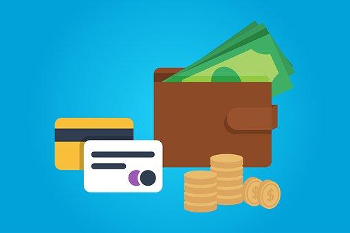 お支払い, お金, 財布, クレジット, カード, 現金, ファイナンス, 通貨