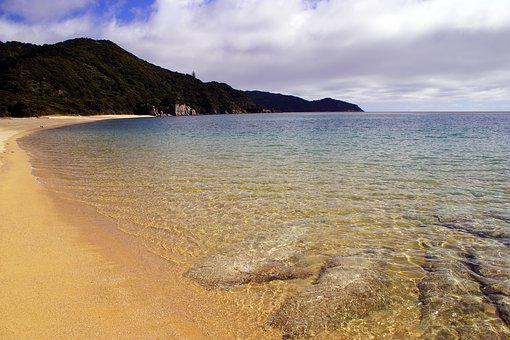 アーベTasman, 国立公園, ニュージーランド, Abel, ビーチ, 海