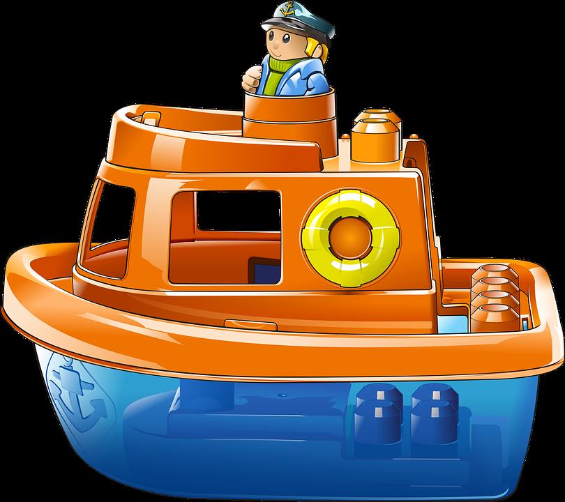 Barco, Remolcador, Mar, Océano, Nave, Juguete, Rojo