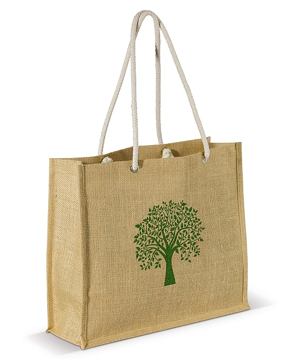 Jute Cotton Handle Bag, Jute Bags Laminated