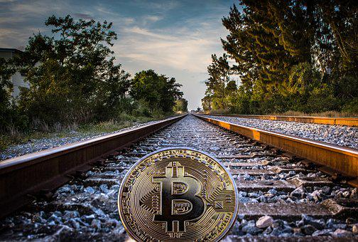 Cryptocurrency, Concept, Rail Tracks