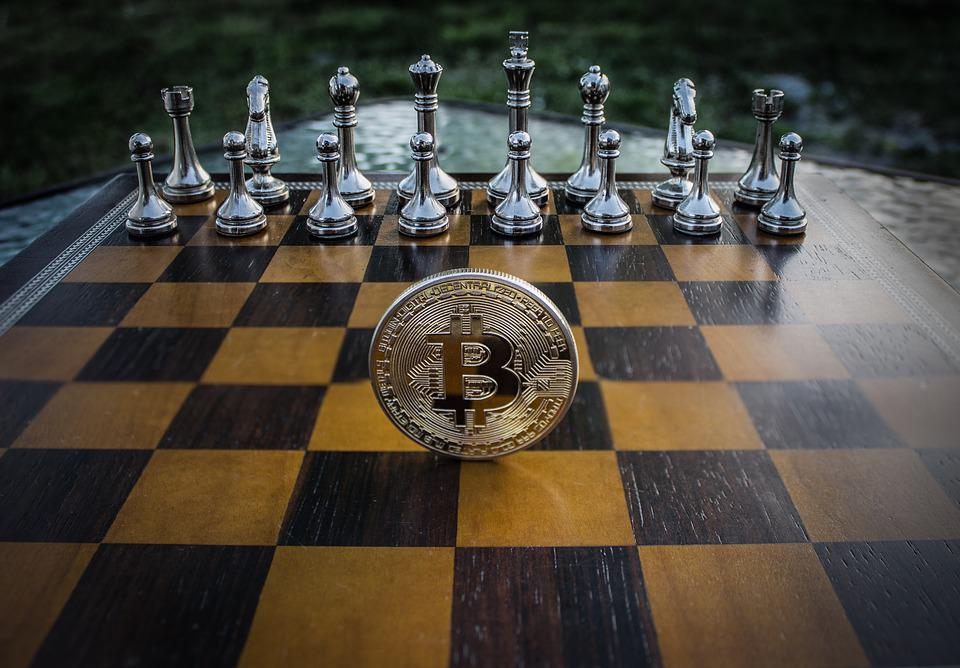 Blockchain Games, Cryptocurrency, Concept, Chess, Bitcoin,