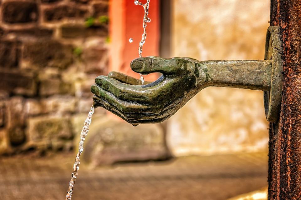 Fonte, Água, Fluxo, Molhado, Característica Da Água