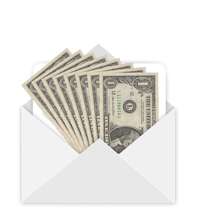 Envelope, Money, Dollar, Bill, Gift, Christmas, E Mail