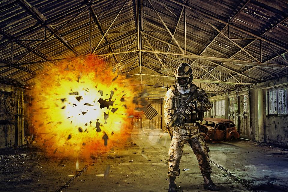 放棄された場所, 破壊, 兵士, 爆発, 自動車事故, 失われた場所, 倉庫, ブレーク アップ, 崩壊