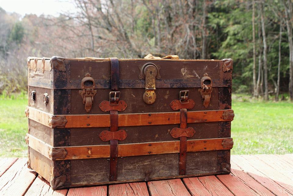 Steamer Trunk, Trunk, Luggage, Antique, Old, Vintage