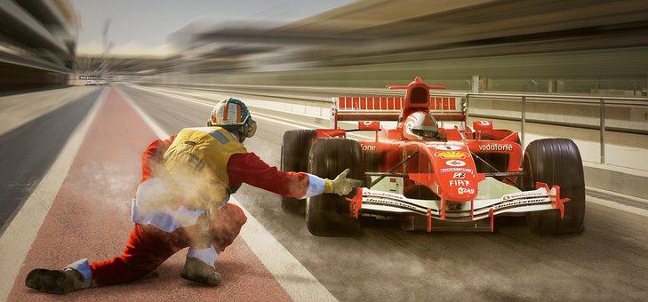 Racing, Formula 1, Pit Lane, Ferrari