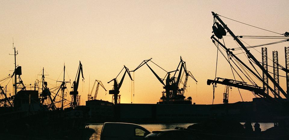Chantier Naval, Arsenal, Coucher De Soleil, L'Industrie