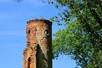 wieża, baszta, ruiny pałacu