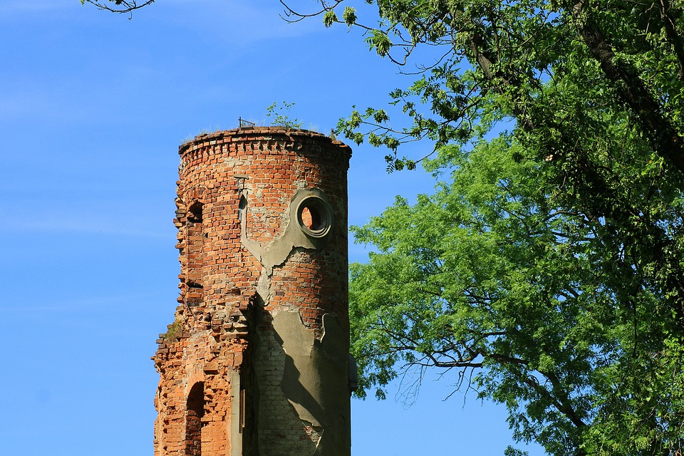 塔, 废墟的宫殿, 纪念碑, 体系结构, 建筑, 崩溃, 被毁, 视图, 老建筑
