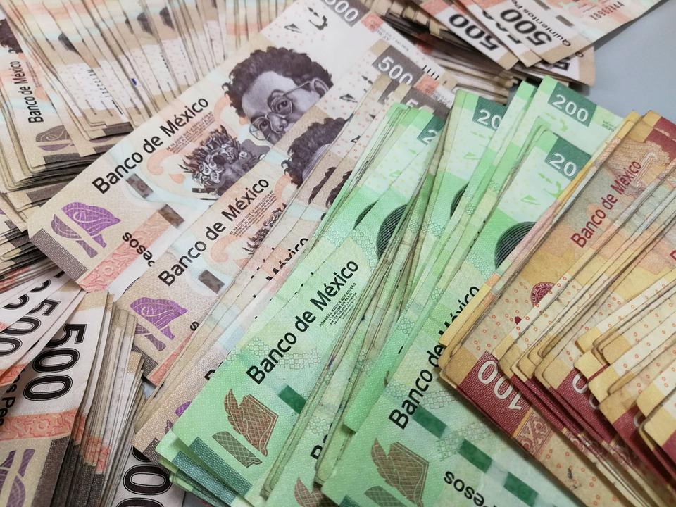 Dinero, Billetes, Pesos, Riqueza, México, Efectivo