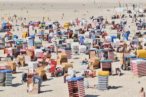 Borkum, Plaży, Wakacje, Lato