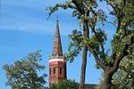 wieża, kościół, widok