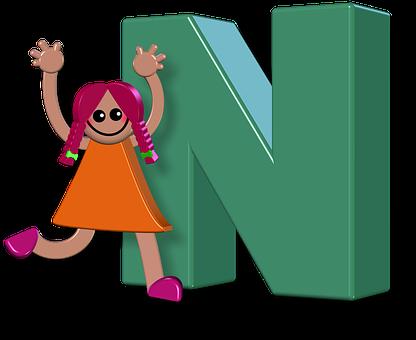Girl, Female, Alphabet, Letters