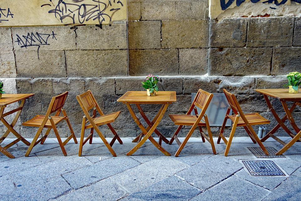 Street Cafe, Stoelen, Eettafels, Buiten Zitten