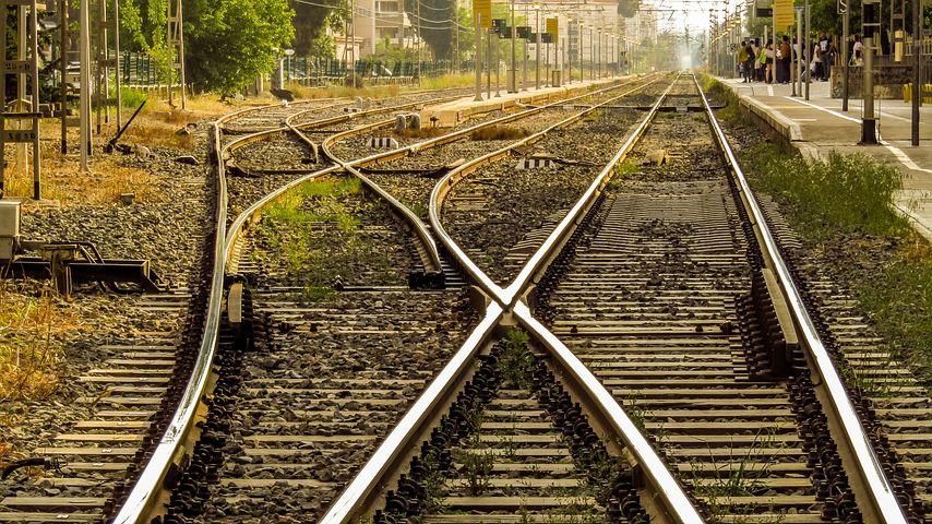 Картинка железная дорога без шпал
