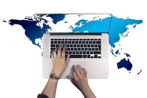 World map images pixabay download free pictures laptop hand leave internet network gumiabroncs Images