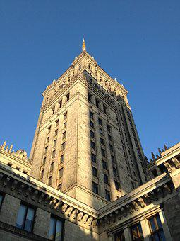 Warsaw, Pkin, Palace Of Culture, Poland