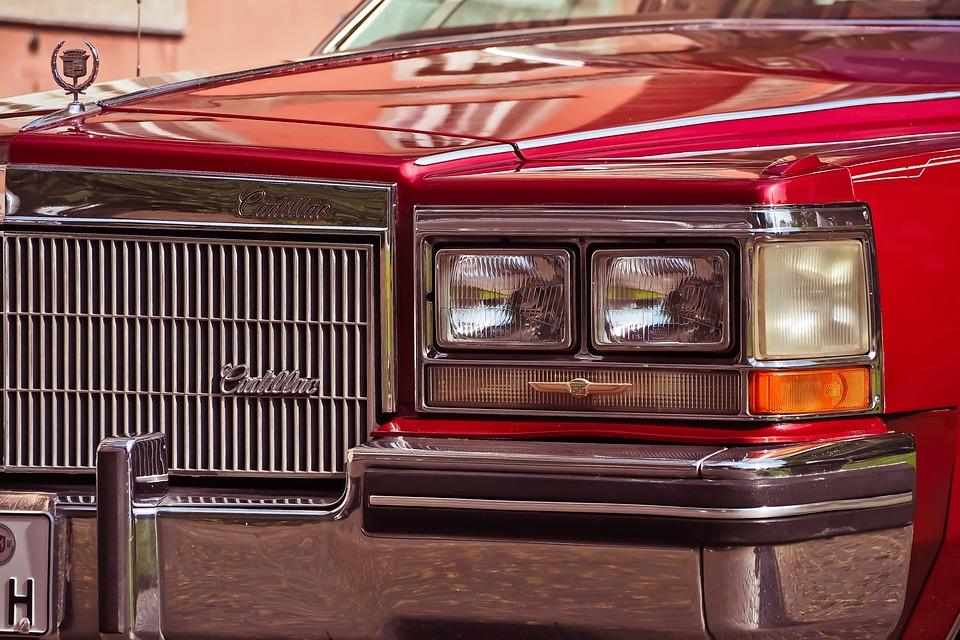 自動, Pkw, アメリカ, 古い車, 古い, オールドタイマー, 車両, 自動車, クラシック, 赤