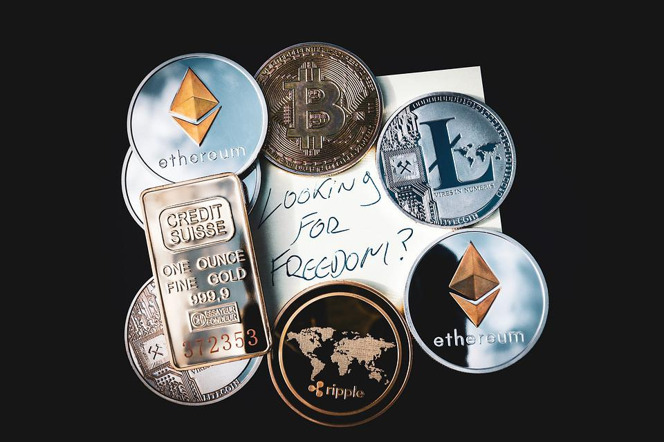 Cryptocurrency, コンセプト, Blockchain, お金, Bitcoin