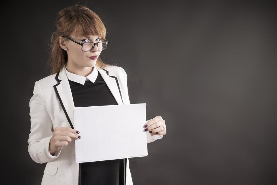Emprendedor, Cartel, Trabajo, Emprendedora, Mujer