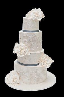 Wedding Cake, Cake, Frosting, Wedding