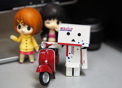 Toy, Character, Anime, Red, Motorcycle