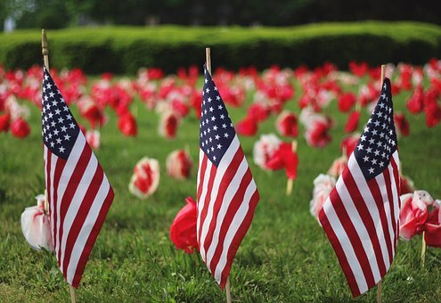 Memorial Day, Holiday, American, Flag