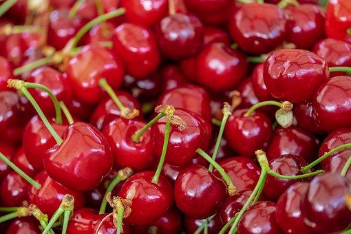 Cherries, Sweet Cherries, Fruit, Red