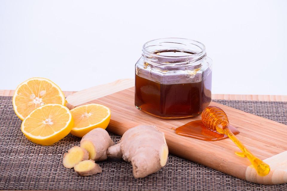 น้ำผึ้ง, มะนาว, อาหาร, มีสุขภาพดี, ขิง, อินทรีย์, ตาราง