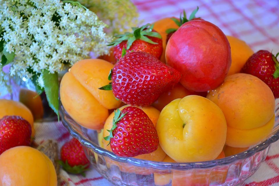 Frutta, Fragole, Albicocche, Natura, Rosso, Dolce