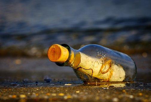 Message In A Bottle, Bottle, Sea