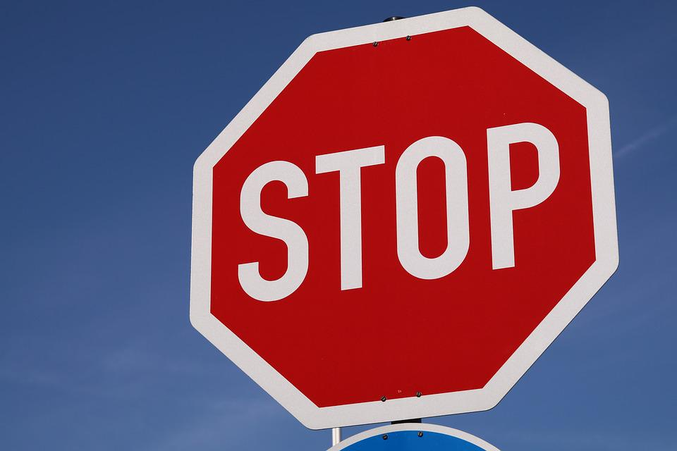 Stop, Shield, Road Sign, Red, Warning, Warnschild