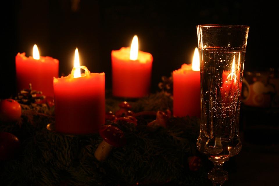Avvento, Corona Di Avvento, Candele, Natale Tempo Di